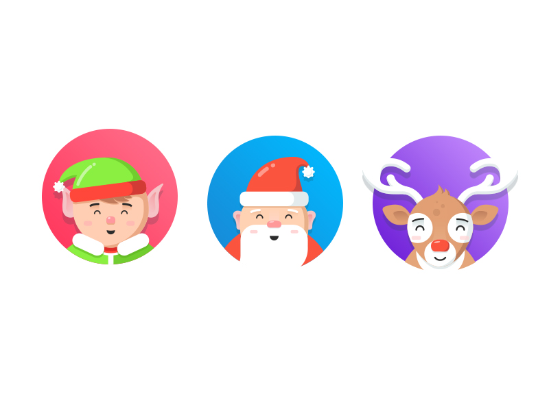 christmas characters illustration