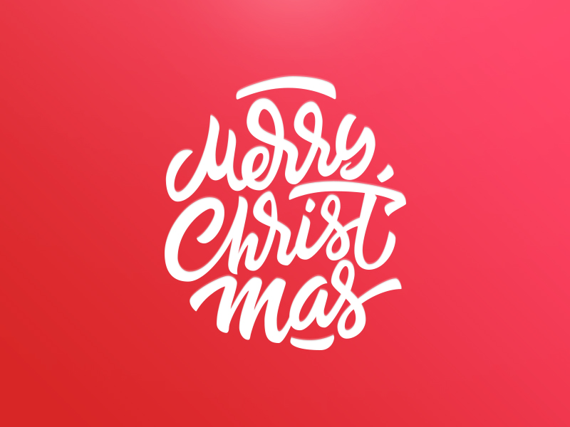 Merry Christmas lettering by Tubik