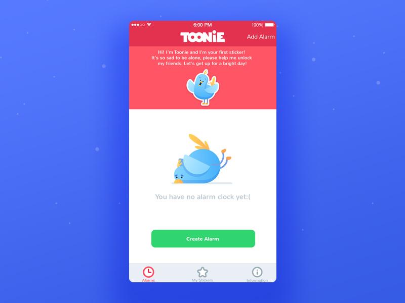 toonie alarm mascot design