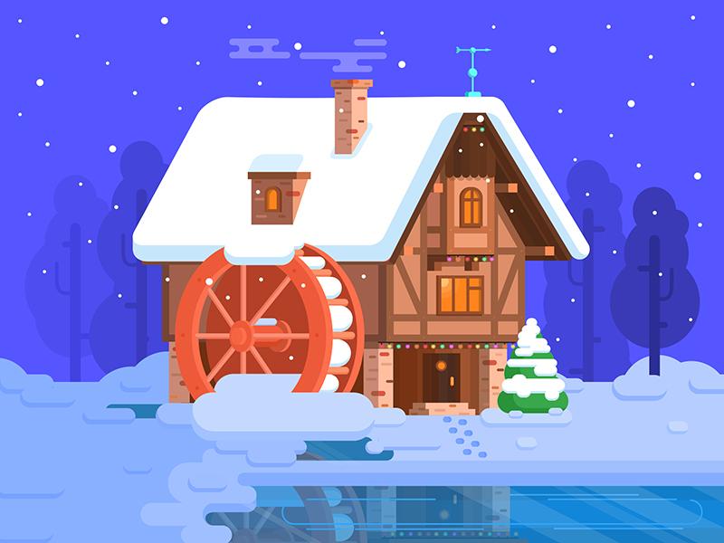 Christmas spirit illustration tubik