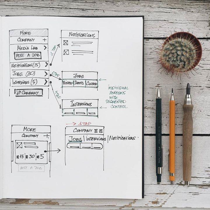 Tubik Studio UI sketches