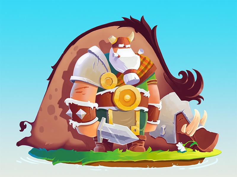 Viking Ulf Tubik Illustration art_game_design
