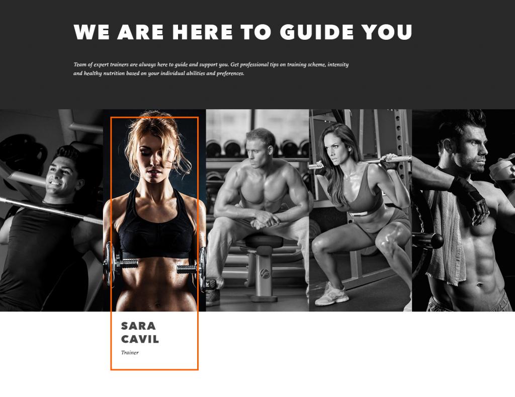 gym landing page fragment