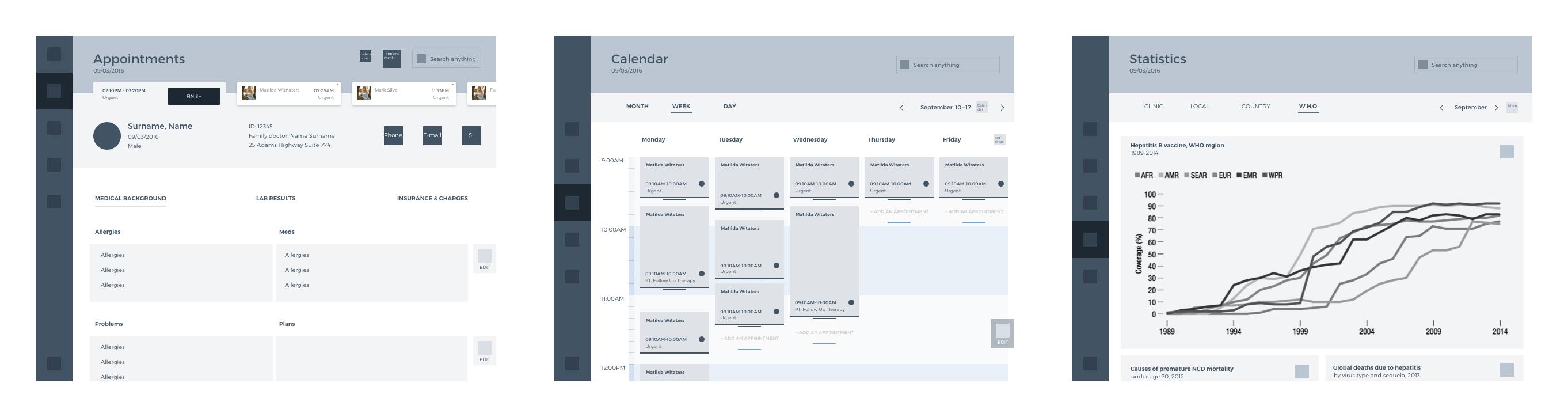 health care app UX design