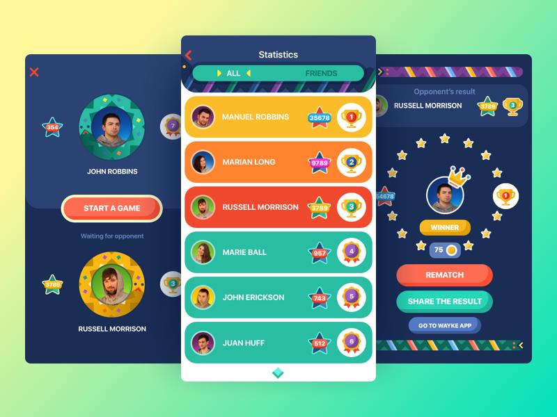 snake battle app UI design