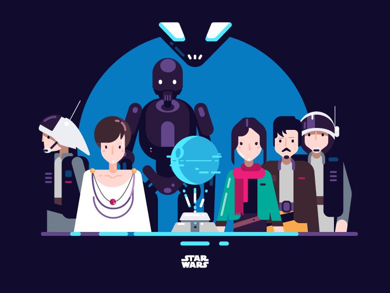 star wars rogue one tubik_studio illustration