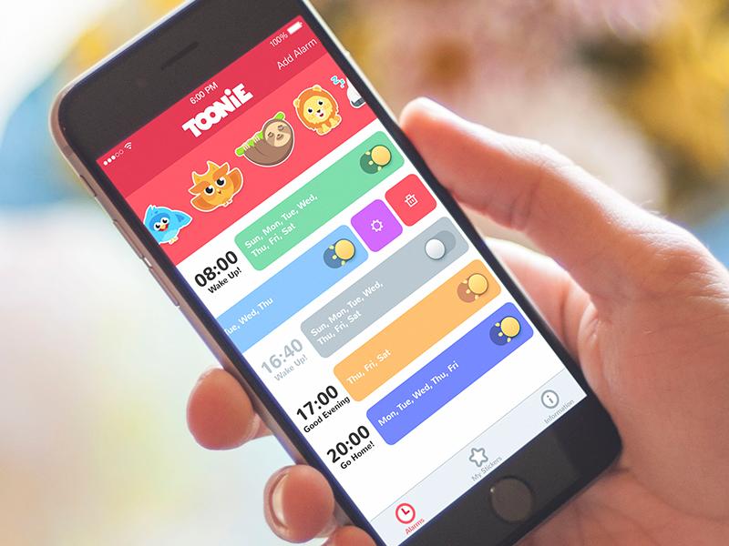 toonie alarm UI design