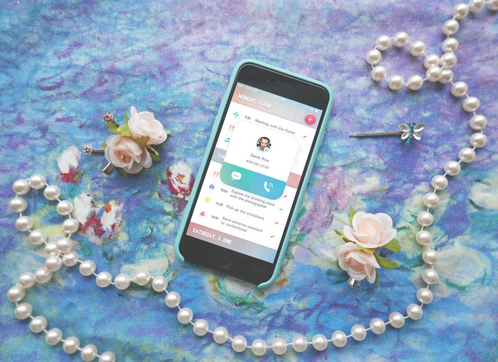 wedding planner app UI design