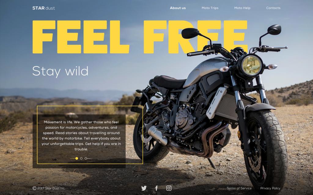 stardust bikers webpage ui_tubik_studio