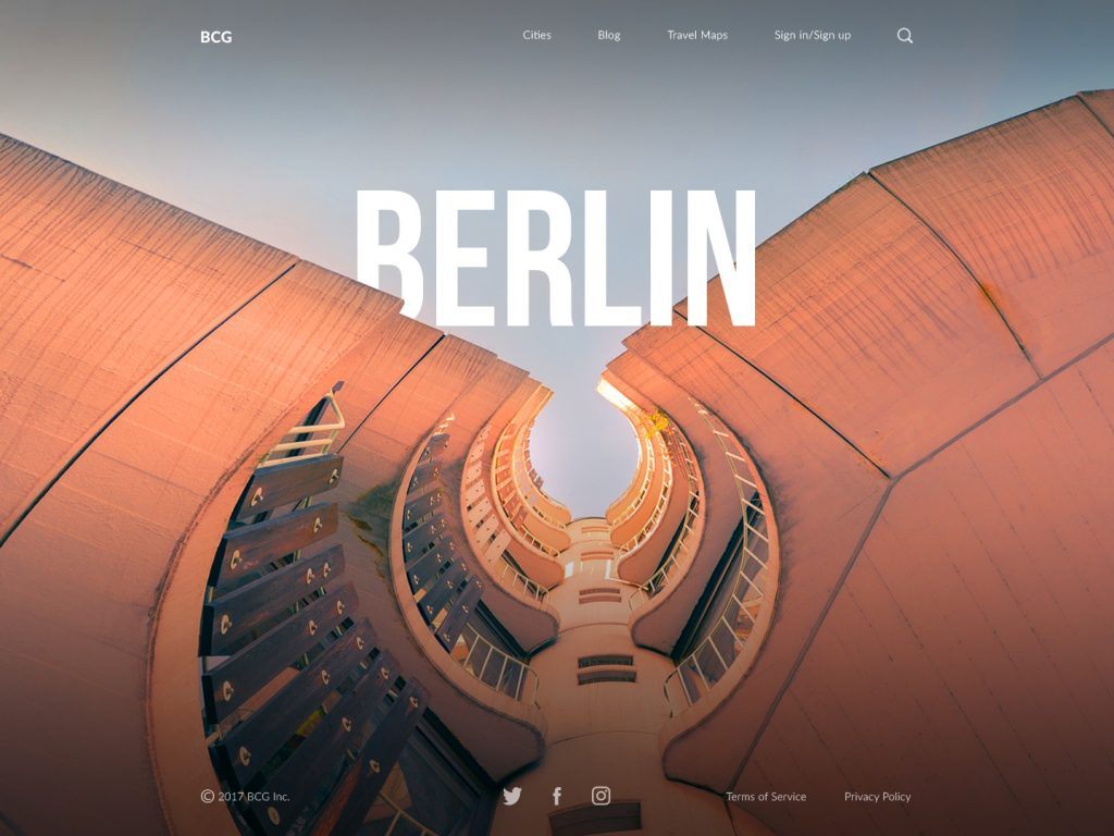 Berlin big city guide ui