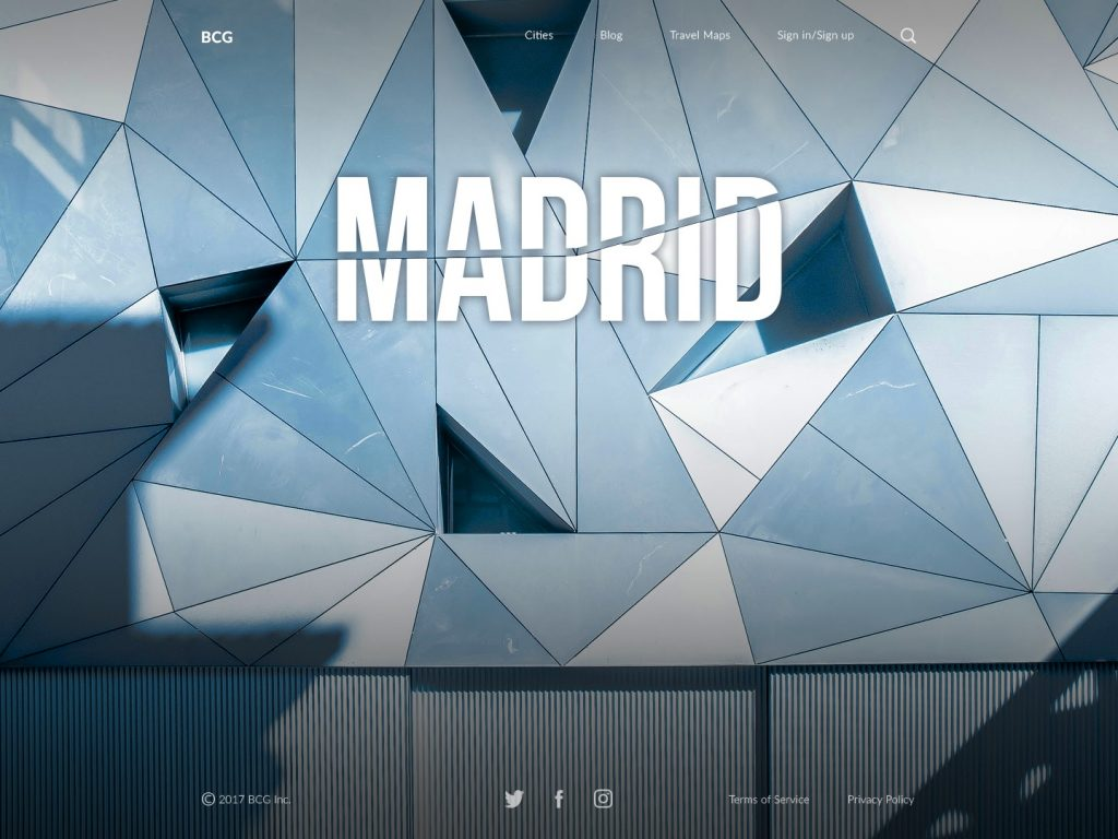 Madrid big city guide ui