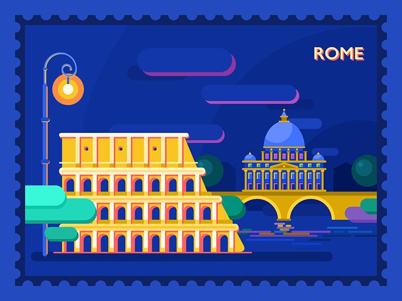 buongiorno roma illustration
