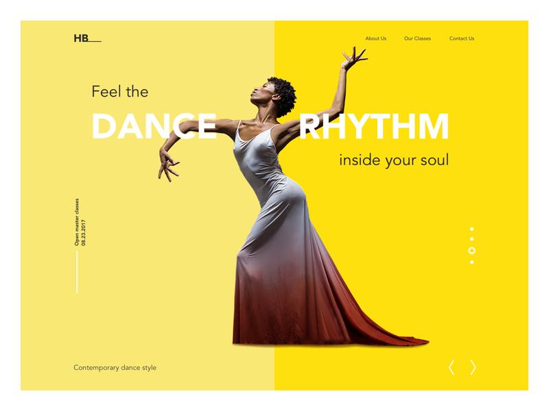 dance academy landing page