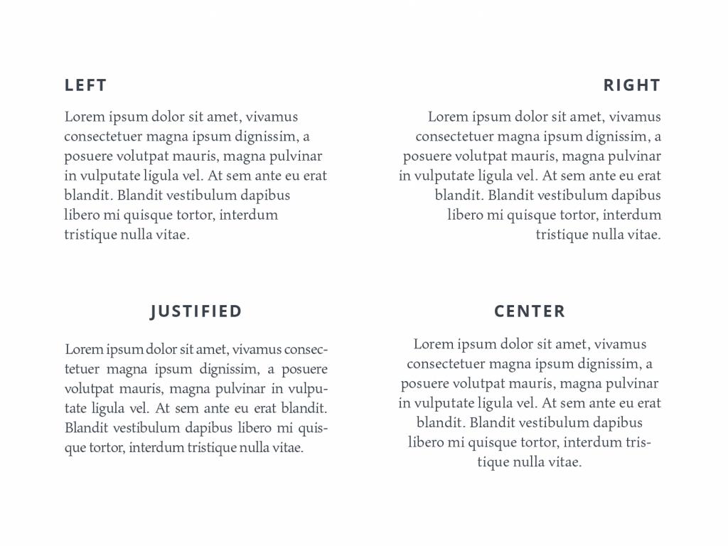tubik typography alignment