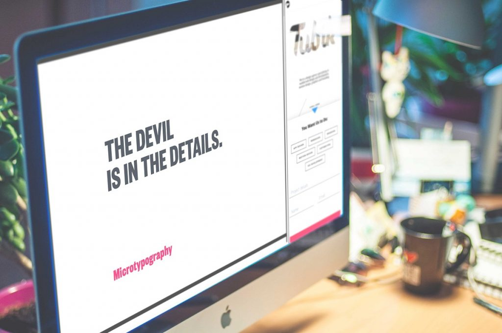 typography in UI design web mobile