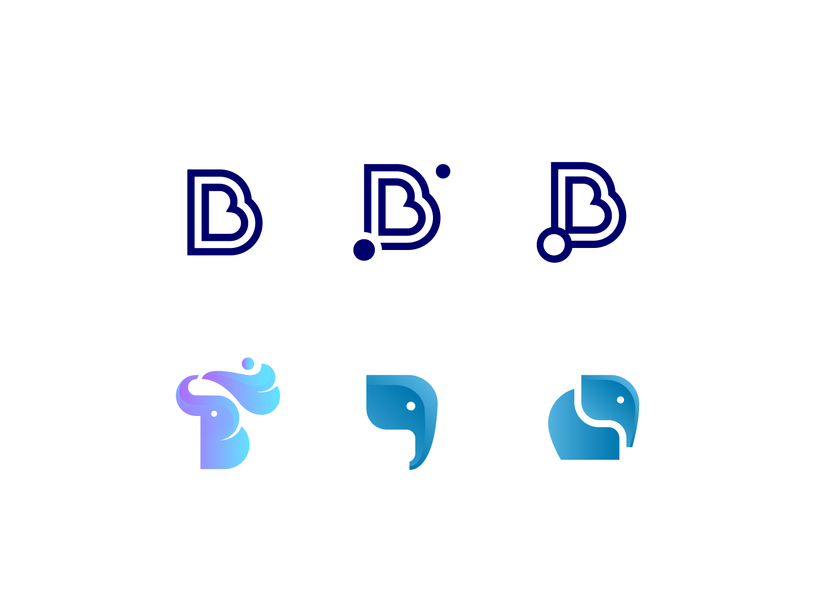 B letter and mascot concepts