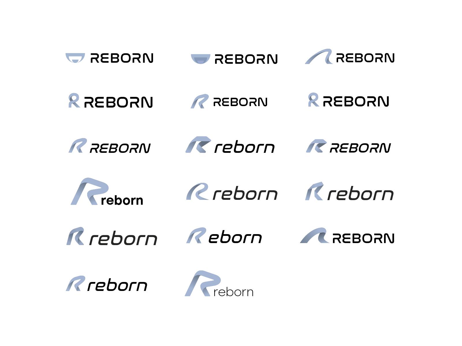 Reborn logo options design case study