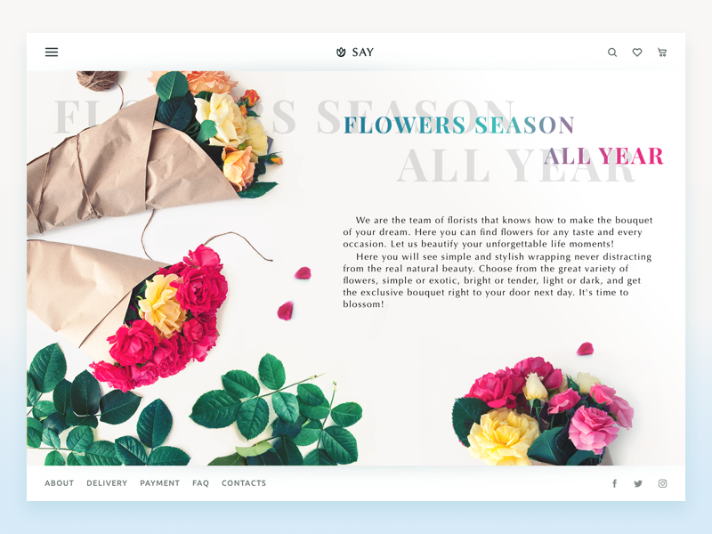 website flowers shop tubik_studio