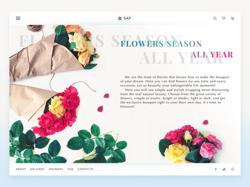 web design florist store ecommerce