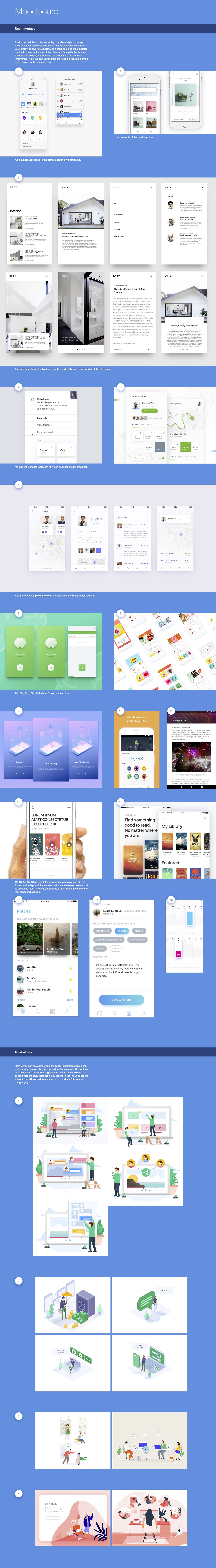 moodboard for UI design project