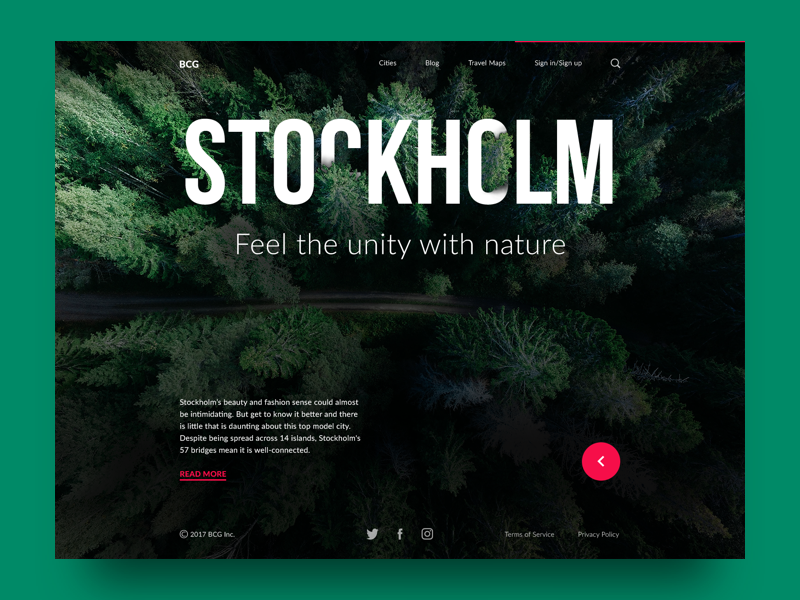 big city guide webdesign stockholm
