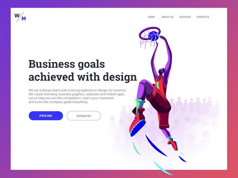 web ui design landing page