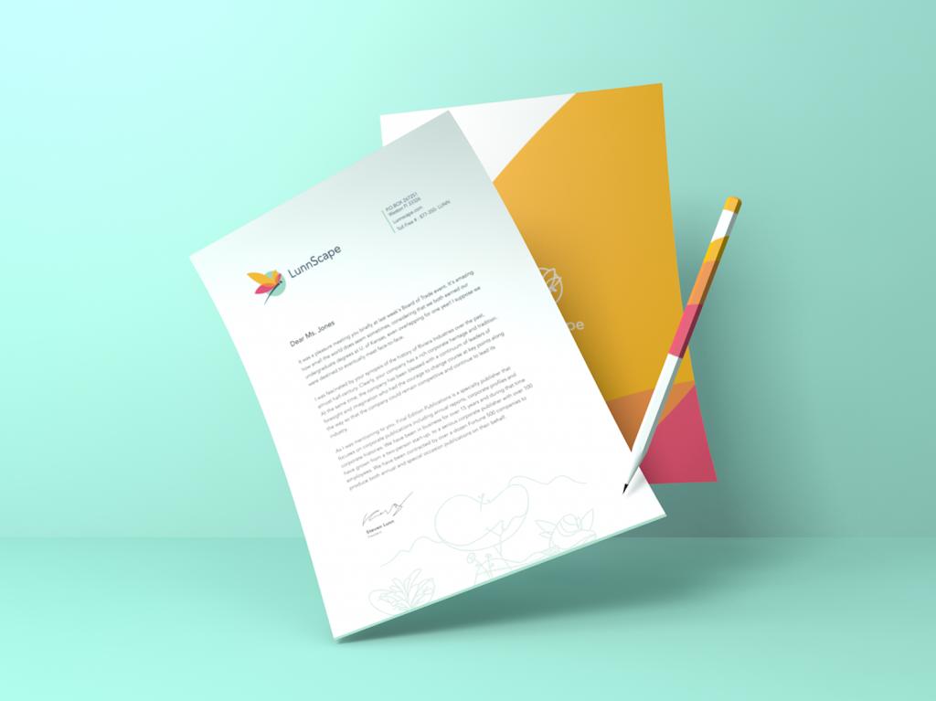 landscape firm logo branding design case study