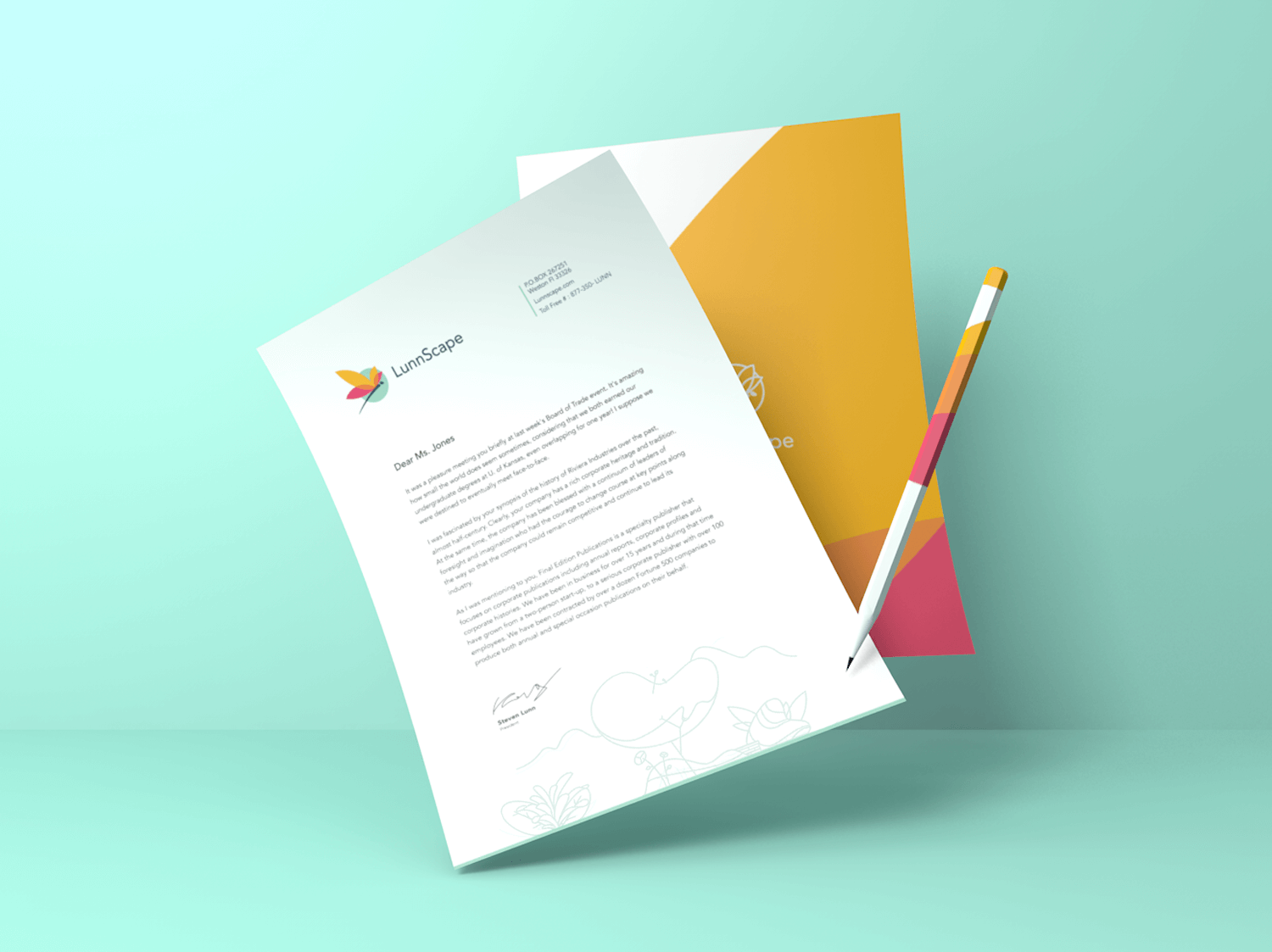 lunnscape branded stationery_stationery