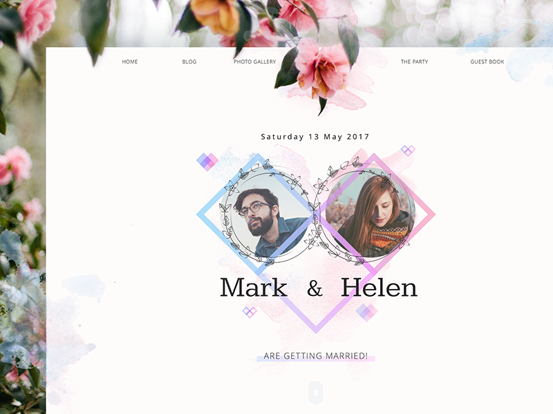 wedding theme website ui design