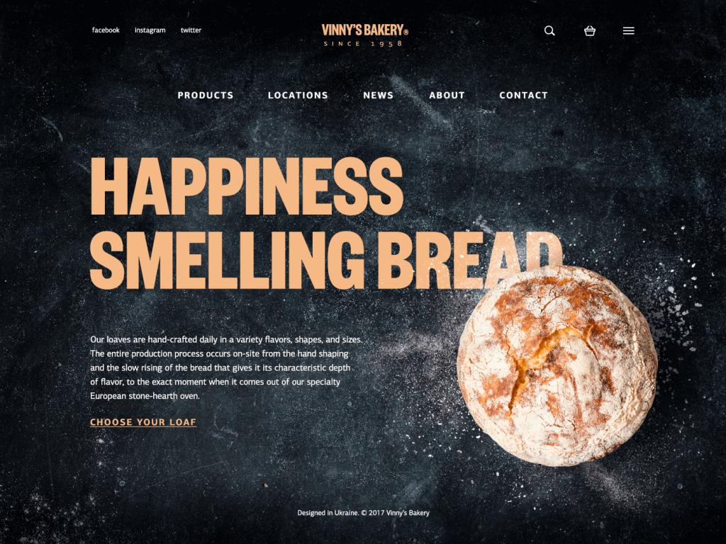 Bakery website design case study tubik