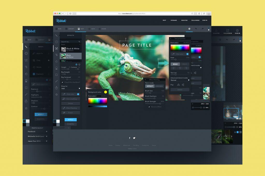 UI design for photo editor