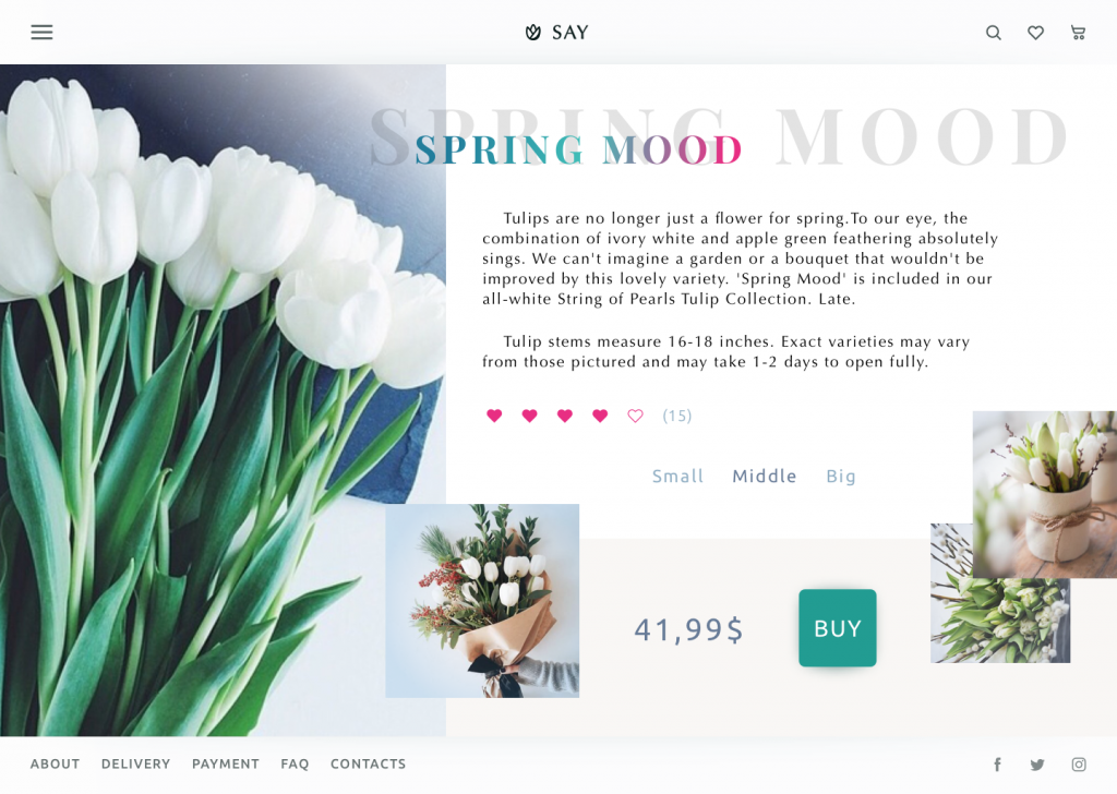 website flowers shop product_page