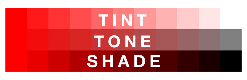 color glossary tints tones shades