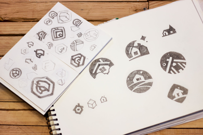tubik_studio_logo_design_case study sketches
