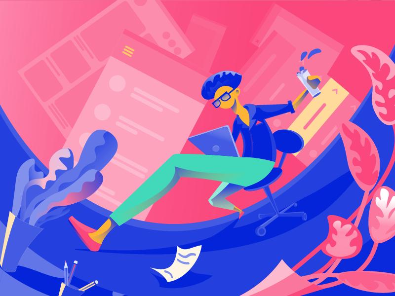 creative ux design illustration