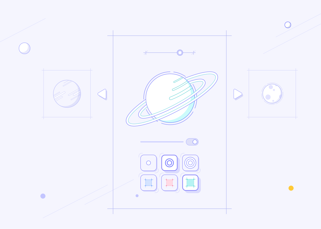colony illustrations landing page design