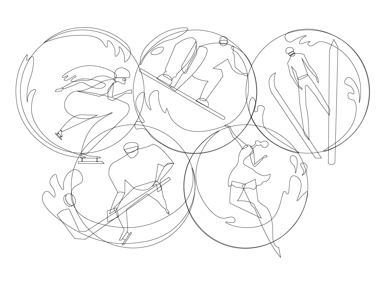 sketching olympic games illustration