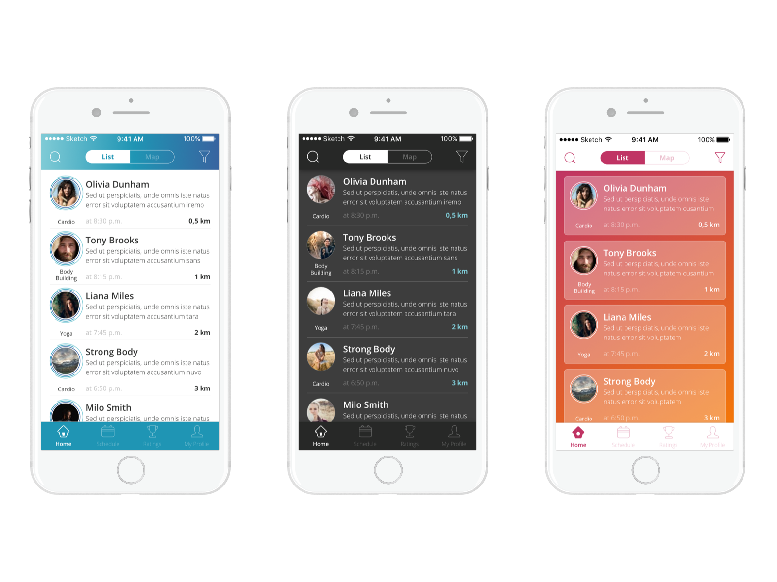 user interface design fitness app tubik