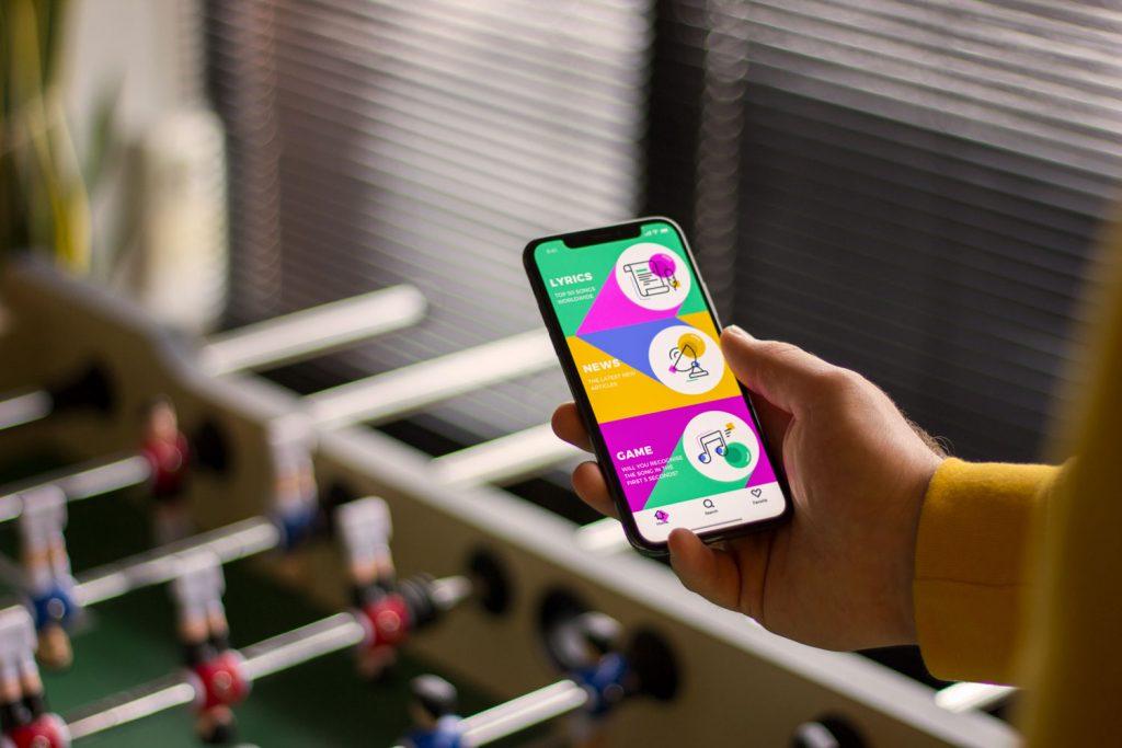 bright colors in UI design
