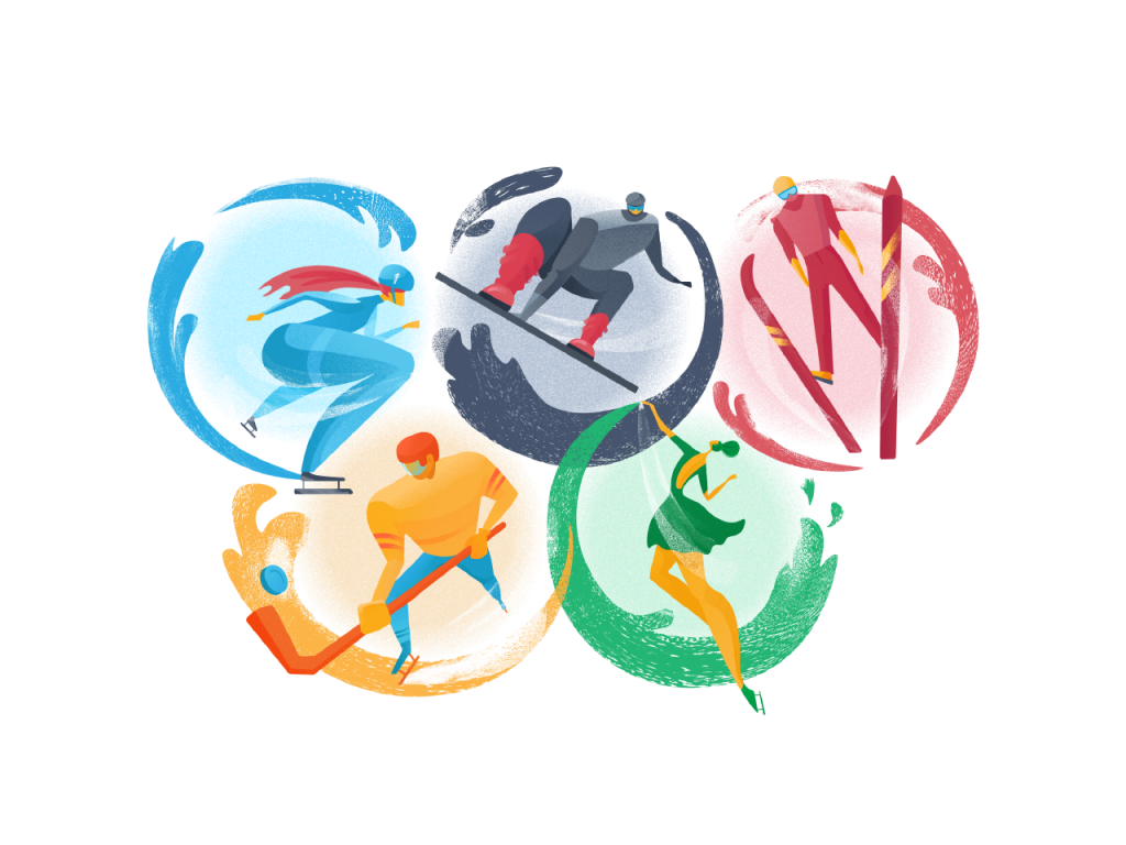 olympic games illustration tutorial tubik blog