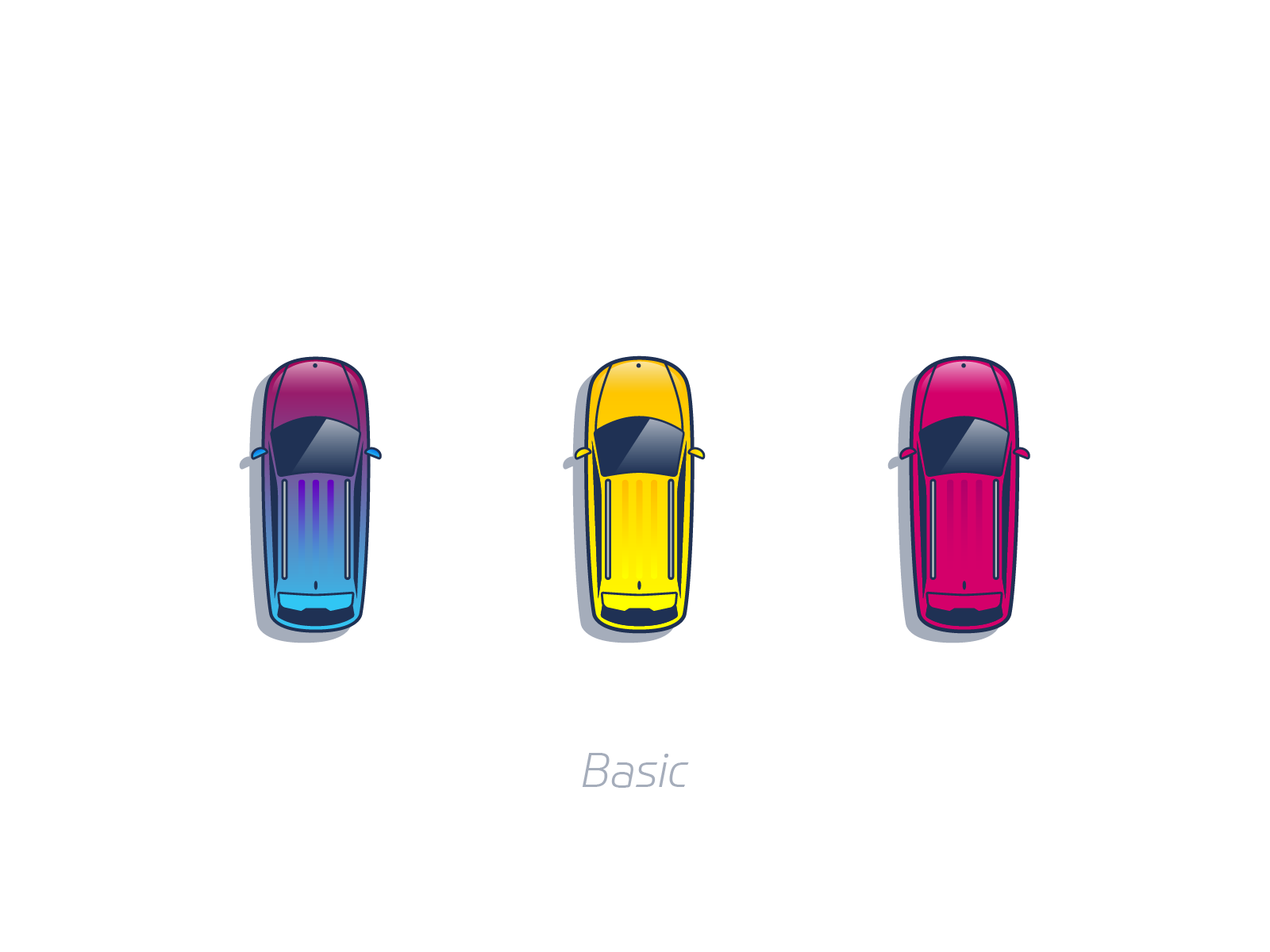 Basic cars game graphic design