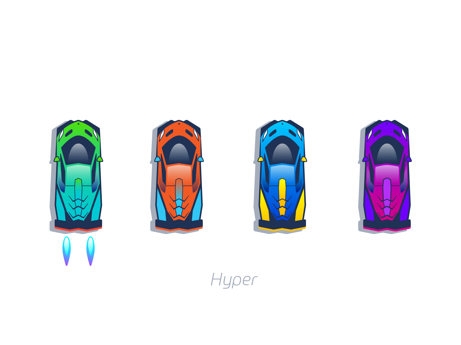 Hyper cars mobile design graphics