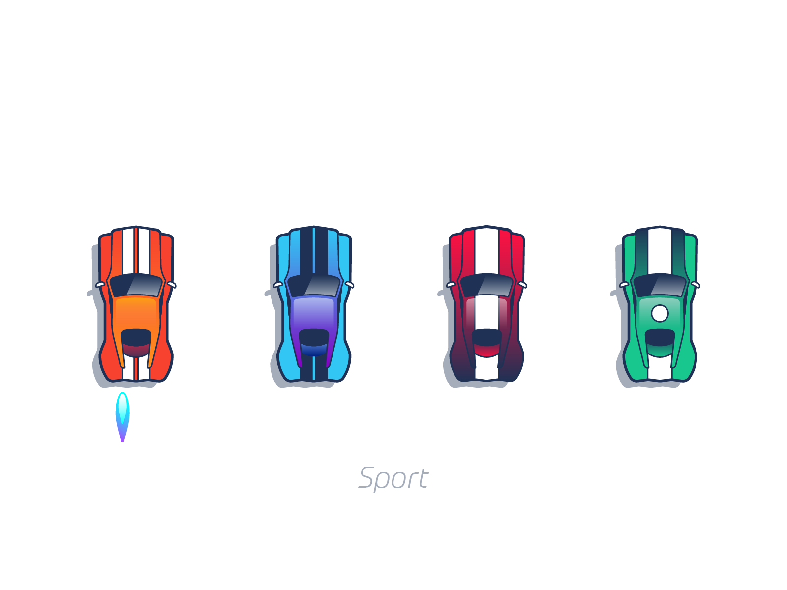 Sport cars mobile game design