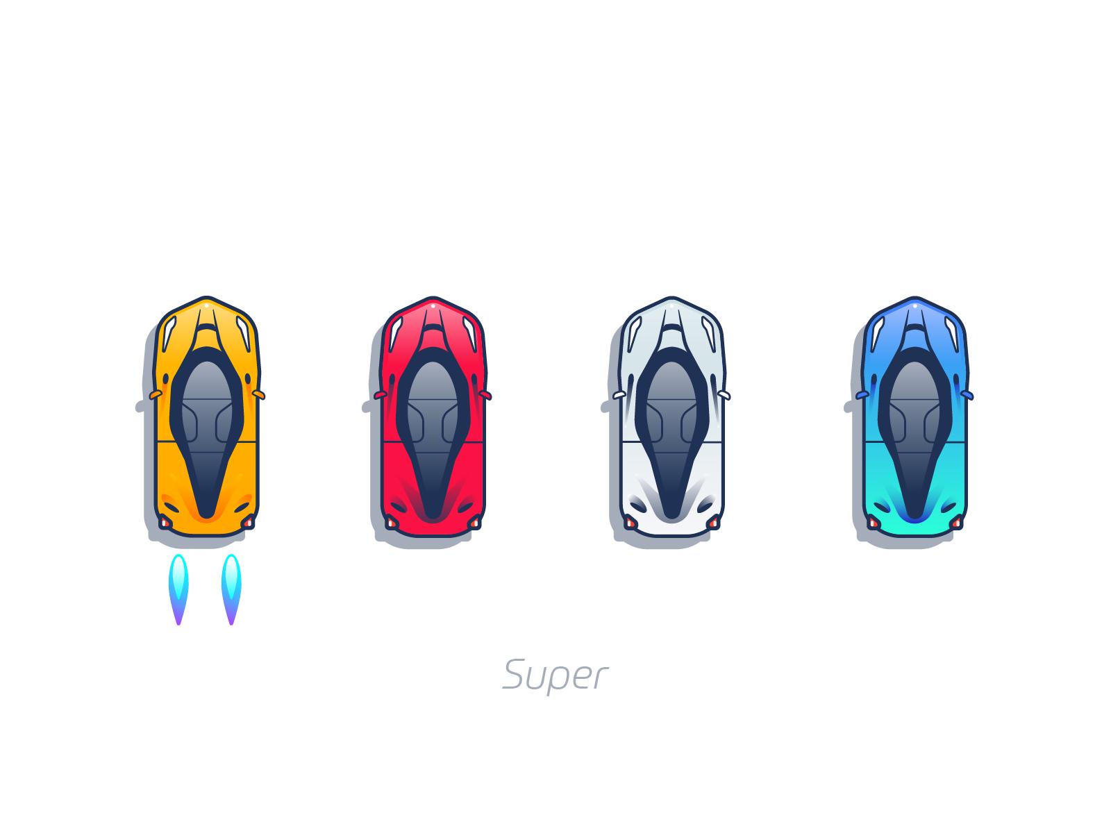 Super cars mobile game design