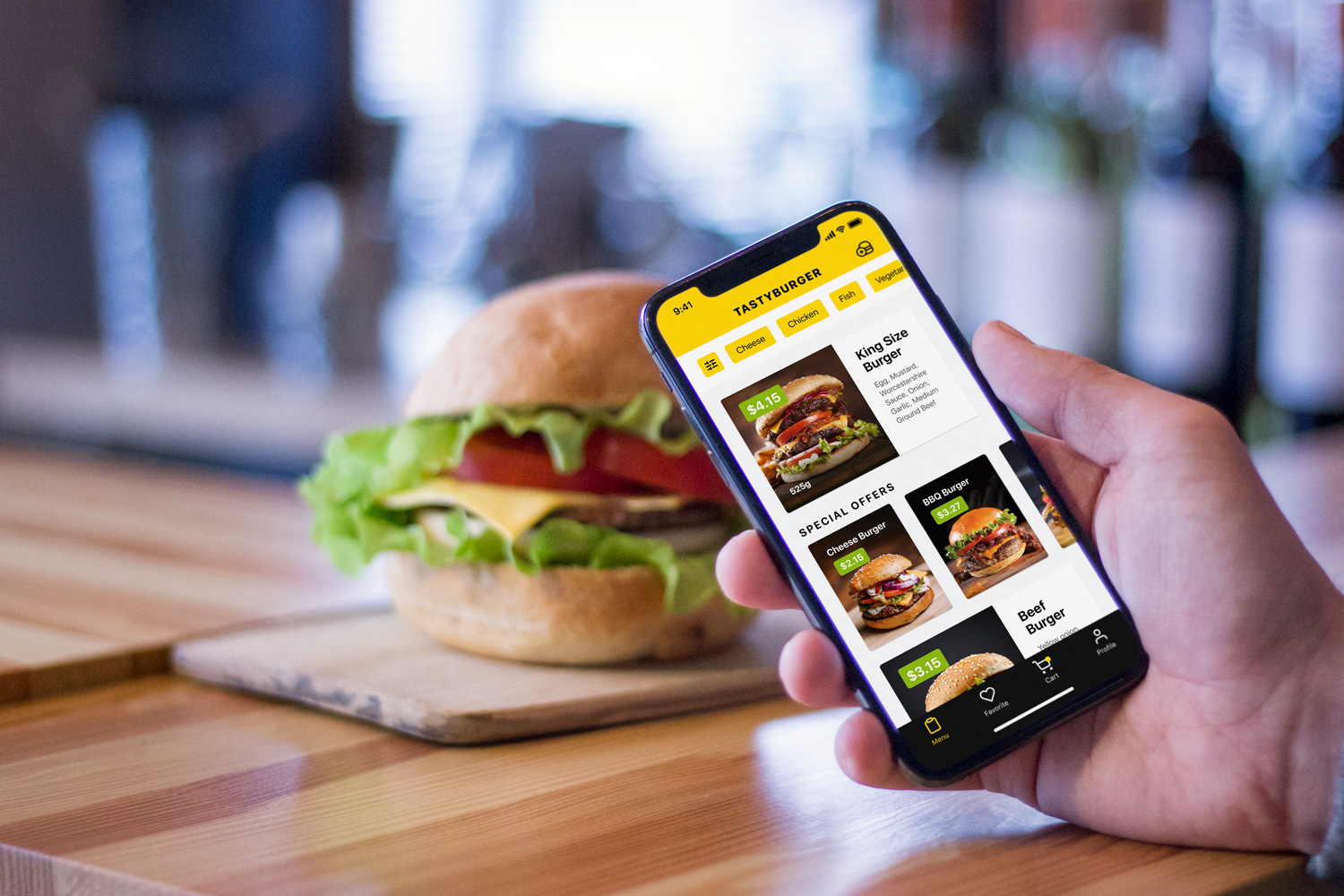burger app food delivery ui case study tubik