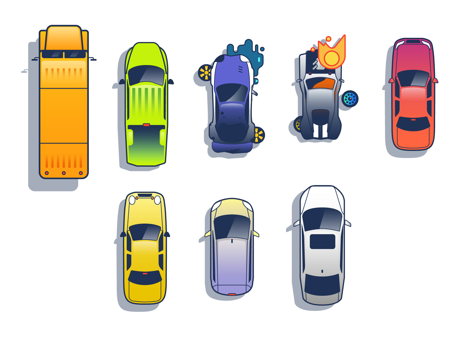 cars vehicles illustration graphic design