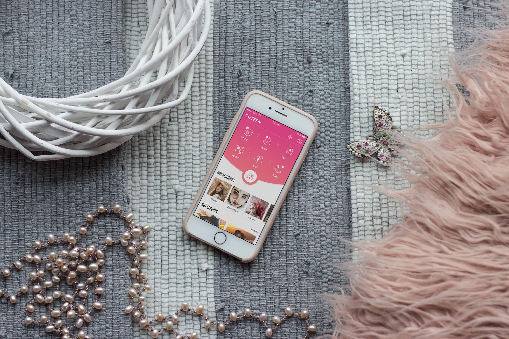 cuteen case study mobile UI