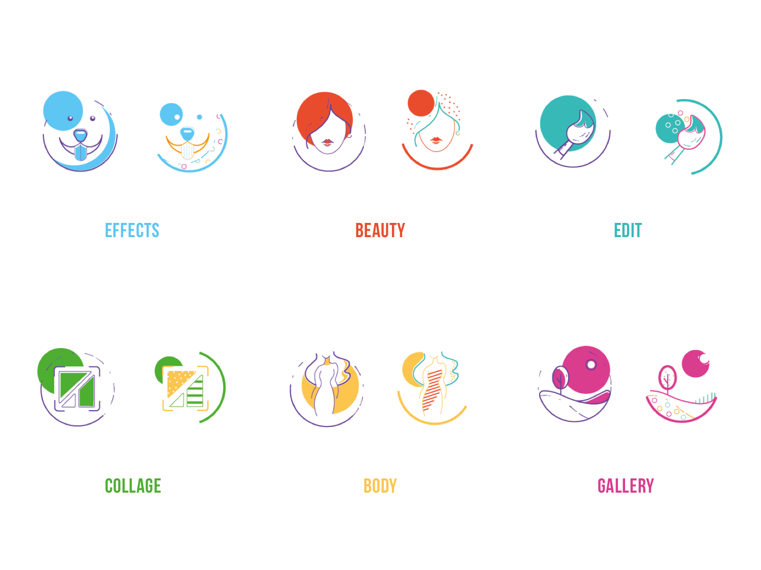 graphic design custom icons for mobile application