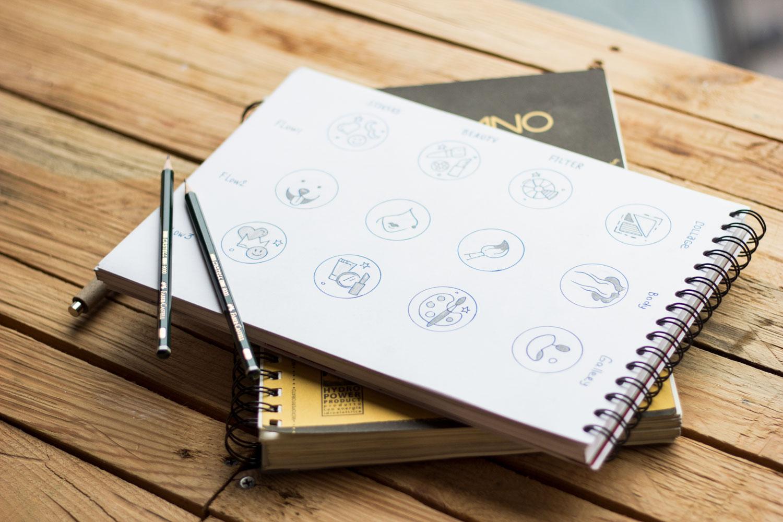 icons sketching graphic design tubik