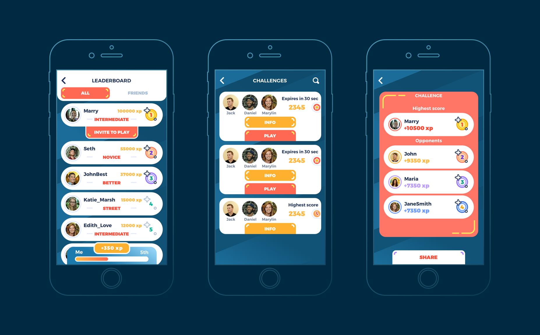 mobile ui design racing game application
